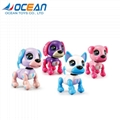Small interactive touch gesture battery operated dog pocket toys 1
