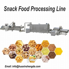 Puffed snack processing line