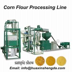 Corn flour, corn grits processing line