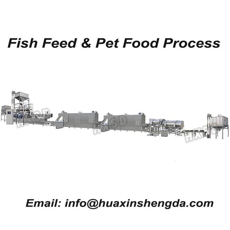Dry Wet Pet Food Pellet Processing Making Extruder Machine