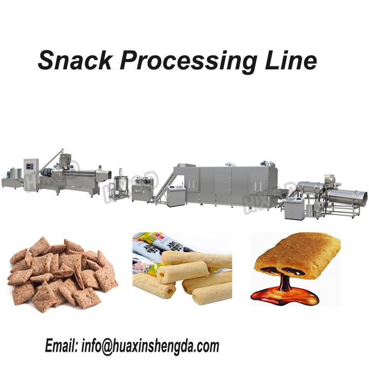 Automatic Chocolate Core Filled Puff Snack Food Extruder Machine 1