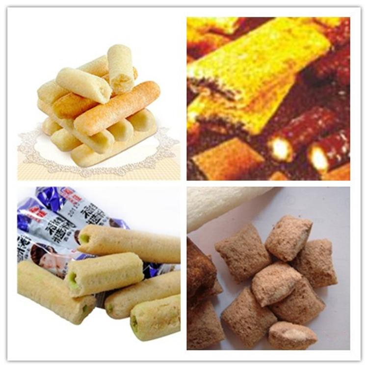 Automatic Chocolate Core Filled Puff Snack Food Extruder Machine 2