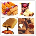 Automatic Chocolate Core Filled Puff Snack Food Extruder Machine 5