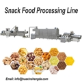 Fully Automatic Corn Snack Making Machine / Snacks Food Extruder Plant