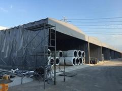 揚州伸縮雨棚移動雨篷推拉雨蓬