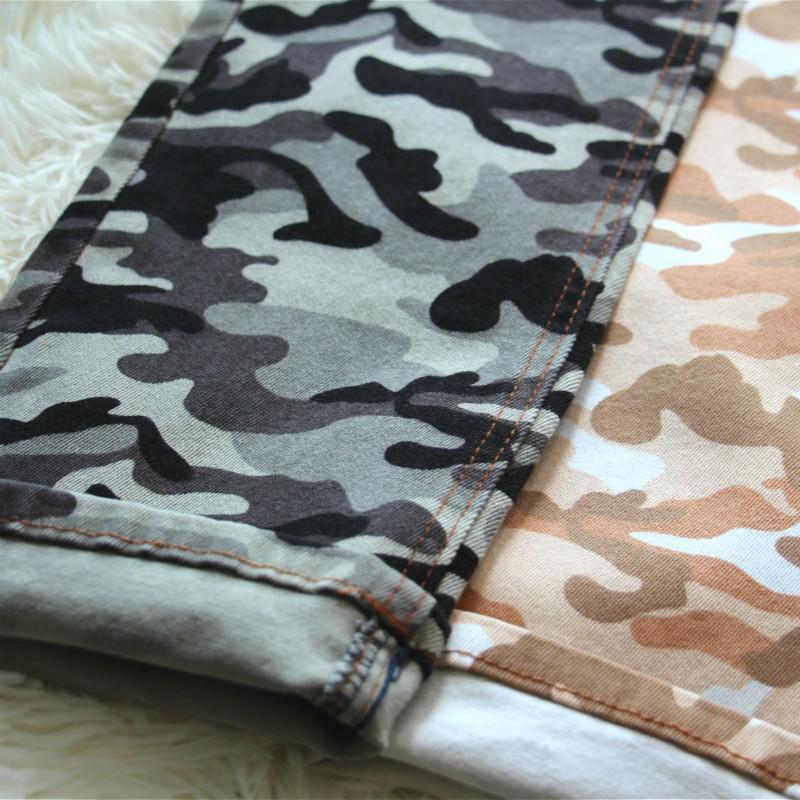 Camo Print Denim Twill  Stripe Twill Fabric  Denim Fabric 1