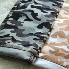 Camo Print Denim Twill  Stripe Twill Fabric  Denim Fabric