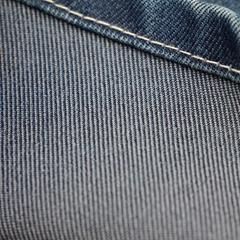 Cotton Polyester Denim Fabric  recycled fiber textile