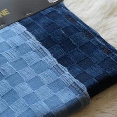 Check Pattern Denim Fabric  Indigo Denim Fabric price