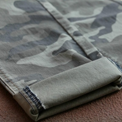 Camo Print Denim Twill Fabric  Camo Print Denim Twill