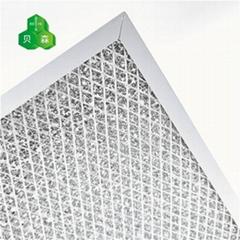蘇州貝森光觸媒海綿網與菱形鋁網復合基材催化有害氣體過濾網