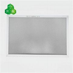 蘇州貝森斜孔鋁蜂窩芯基材催化有害氣體光觸媒過濾網