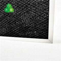 蘇州貝森活性炭鋁箔網與菱形鋁網復合基材除甲醛過濾網