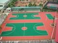 湖南長沙硅pu籃球場材料硅PU施工硅PU籃球場工程 1
