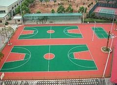 湖南長沙硅pu籃球場材料硅PU施工硅PU籃球場工程