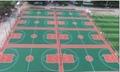 湖南長沙硅pu籃球場材料硅PU施工硅PU籃球場工程 2
