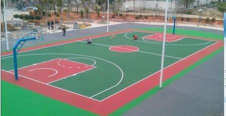 湖南長沙硅pu籃球場材料硅PU施工硅PU籃球場工程 3