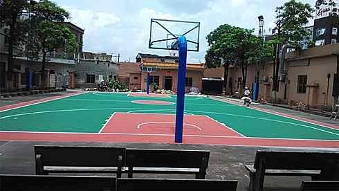 湖南長沙硅pu籃球場材料硅PU施工硅PU籃球場工程 4