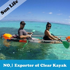 Clear Kayak Transparent Kayak Seethrough Canooe Glass Bottom Boat