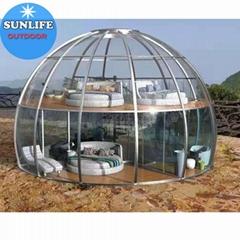 2 Floor PC Transparent Dome House Igloo Restaurant Camp 9m Diameter