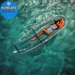 Double seats Durable Transparent clear Kayak paddle board and clear canoes