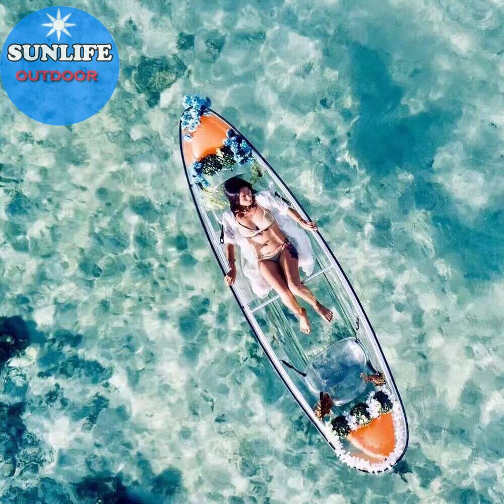 100% Virgin Imported made Clear plastic kayak transparent wholesale 3