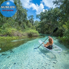 Sunlife kayak clear aluminum and clear bottom 2 person kayak