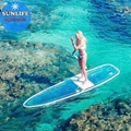 Clear bottom paddle board glass Paddle