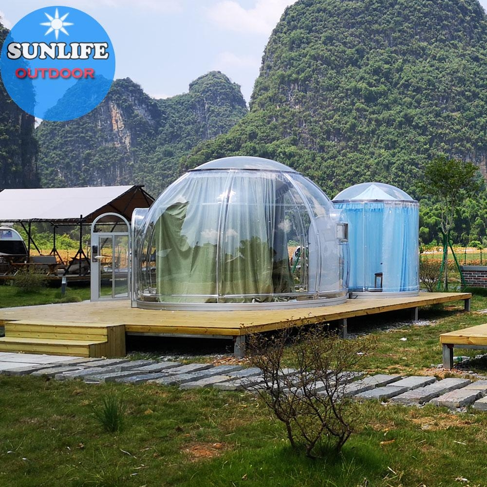 Polycarbonate dome camping transparent dome camping clear dome camping
