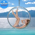 Clear Hanging Wicker Bubble Chair Sliver