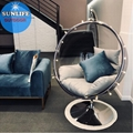 Acrylic Transparent Ball  Kids Hanging Chair