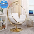 Golden Bubble Chair With Stand Base