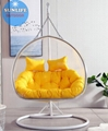 Clear Double Seats Bubble Hanging Chair With Stand