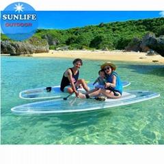 全透明SUP滑板水上运动水晶冲浪板