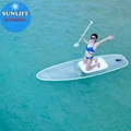 Glass bottom SUP Polycarbonate Paddle board PC surfboard yoga stand up board