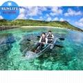 Kayak Transparent Platic PC clear kayak cystal canoe see through kayak boat