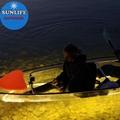 PC polycarbonate clear canoe fiberglass kayak glass bottom kayak with LED light