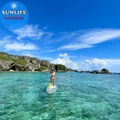 Clear SUP Transparent Paddle Board PC Hard Surfboard with high light transmissio