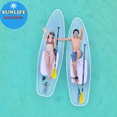 Clear SUP See Through Paddle Boards Water Skiboard Clear Paddle Board