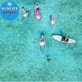 Clear Bottom SUP Crystal Paddle Board PC NOT Inflatable Supboard