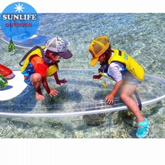 Transparent SUP Surfing Stand Up Surfboard Clear Paddle Board