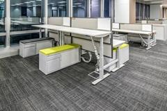 美时办公家具 可升降办公桌组合