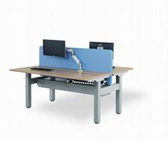 美时办公家具升降桌 lamex 员工桌组合