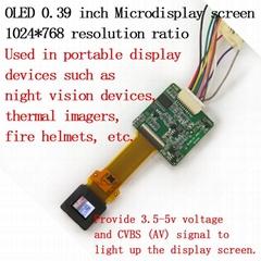 OLED單目微型顯示器模組頭盔顯示器