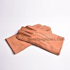 Custom best selling men's high quality deerskin winter leather glove
