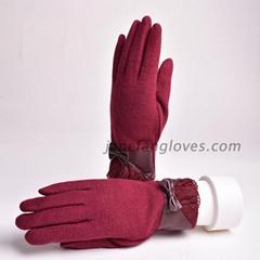 Wholesale winter fashion female wool gloves