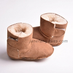 Real sheepskin prewalker baby snow boots