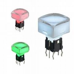 12X12mm,LED tact push switch