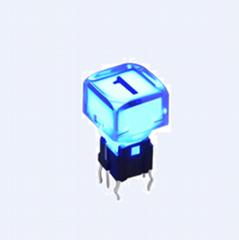 9X9mm,LED tact push switch