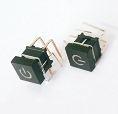 llluminated tact switches 90° DIP